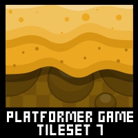 Desert Platformer Game Tile Set