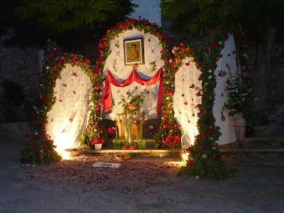 El Arco de San Juan levantado en la Plazuela de San Juan el 23 de junio de 2014