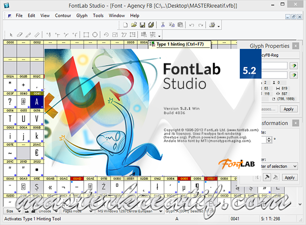 FontLab Studio 5.2