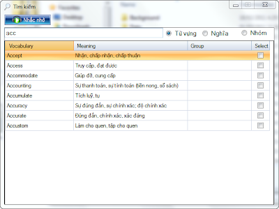 Phần mềm học từ vựng English ToolTip.... FrmSearch