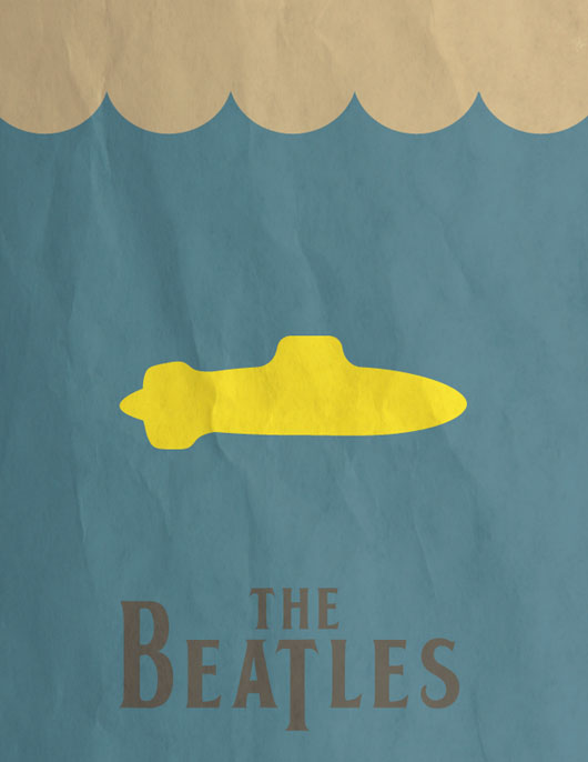 The Beatles cartaz minimalista