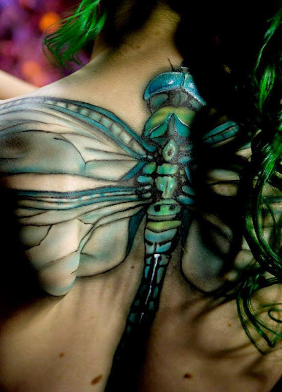 DeviantArt More Like Dragonfly Body Paint by Battledress