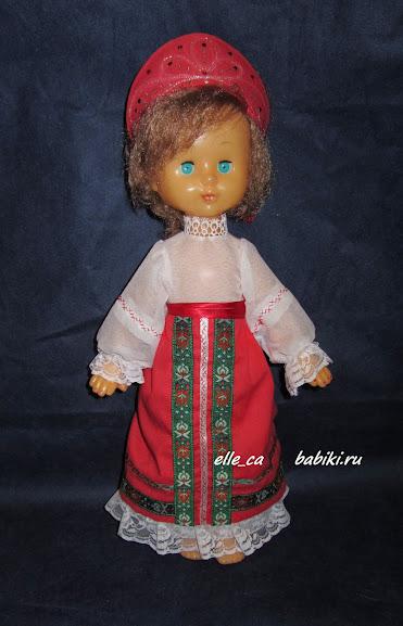 6.8 Собираем русский народный костюм для куклы 92