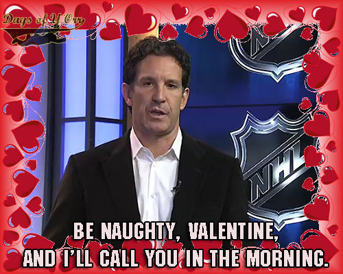 love is in the air nhl valentine s day cards the sports daily