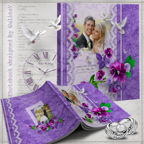 Romantic Photobook - Violet Wedding