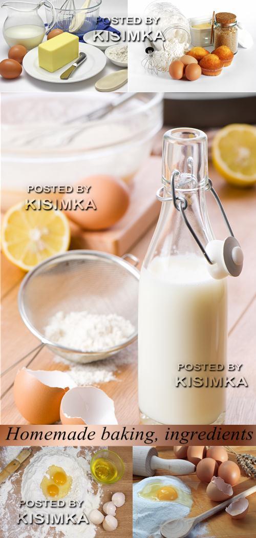 Stock Photo: Homemade baking, ingredients