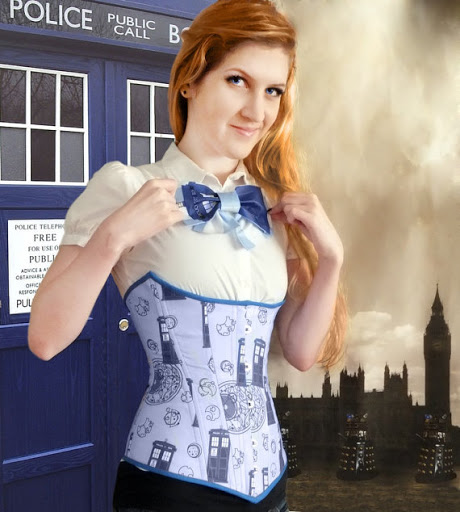 Sexy TARDIS Corset And Skirt
