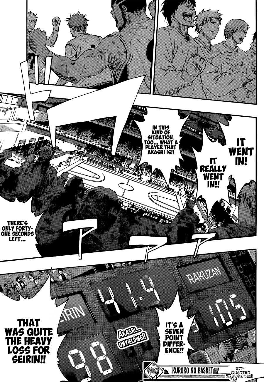 Kuroko no Basket Manga Chapter 271 - Image 19