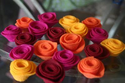Faça as flores de feltro