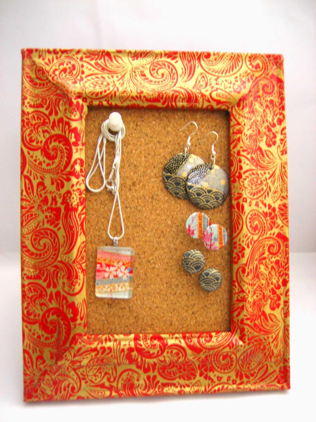 Glue + paper = jewellery? series part 5 - cork board decoupage frame ...