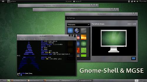 DeLorean_Noir Gnome-Shell & MGSE Theme
