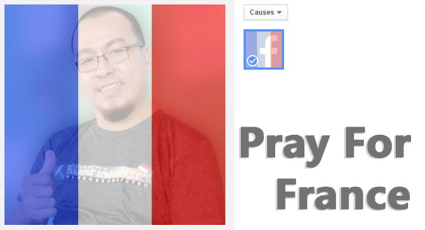 Pray For France, Facebook Rilis Filter Foto Profil Dengan Bendera Perancis