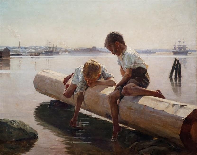 Albert Edelfelt - The Little Boat