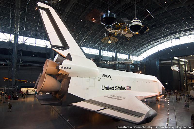 USA Virginia Dulles Airport Smithsonian Air and Space Museum Steven F. Udvar-Hazy Center Space Shuttle Enterprise США Вирджиния Аэропорт Даллес Смитсоновский Аэрокосмический музей Стивен Ф Удвар Хази Центр  космический шаттл энтерпрайз