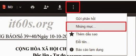 Cách nhúng tài liệu vào trang Web thông qua Google Drive 10