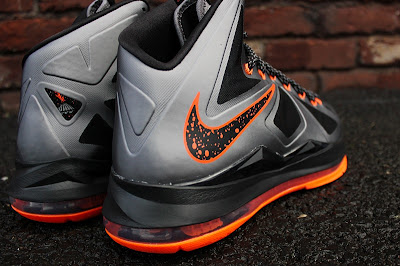 nike lebron 10 gr silver black orange 5 03 Detailed Look at Lava Nike LeBron X That Drops on Saturday