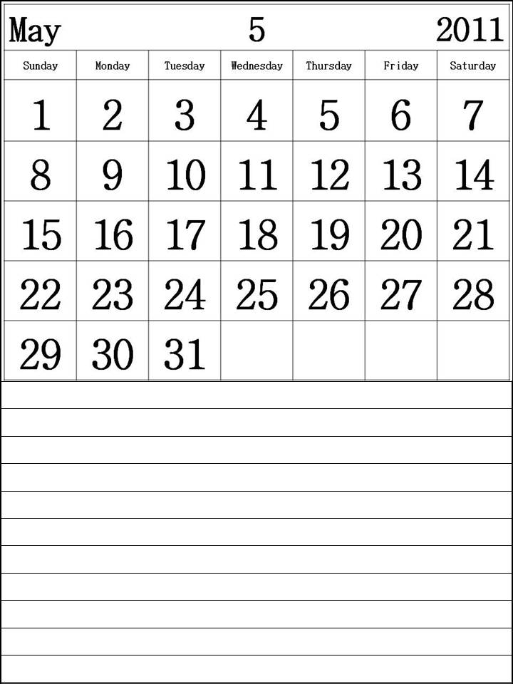 calendar 2011 may printable. Free May 2011 Calendar printable template