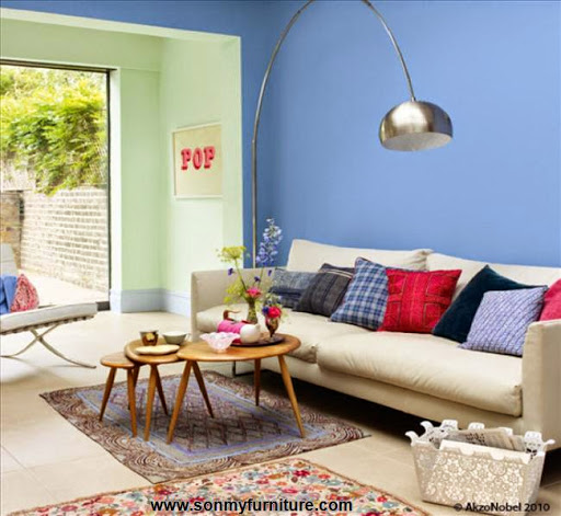 Phòng khách tươi mới đón mùa xuân hè_tin tức nội thất-9