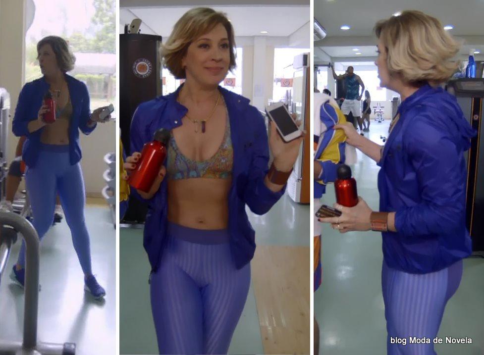 moda da novela Alto Astral, roupa de ginástica da Samantha dia 2 de dezembro