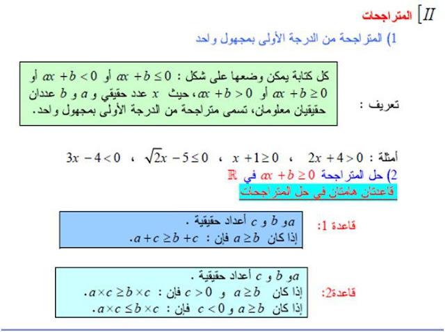 كيفية حل متراجحة و تمثيلها بيانيا 4 متوسط 1.JPG