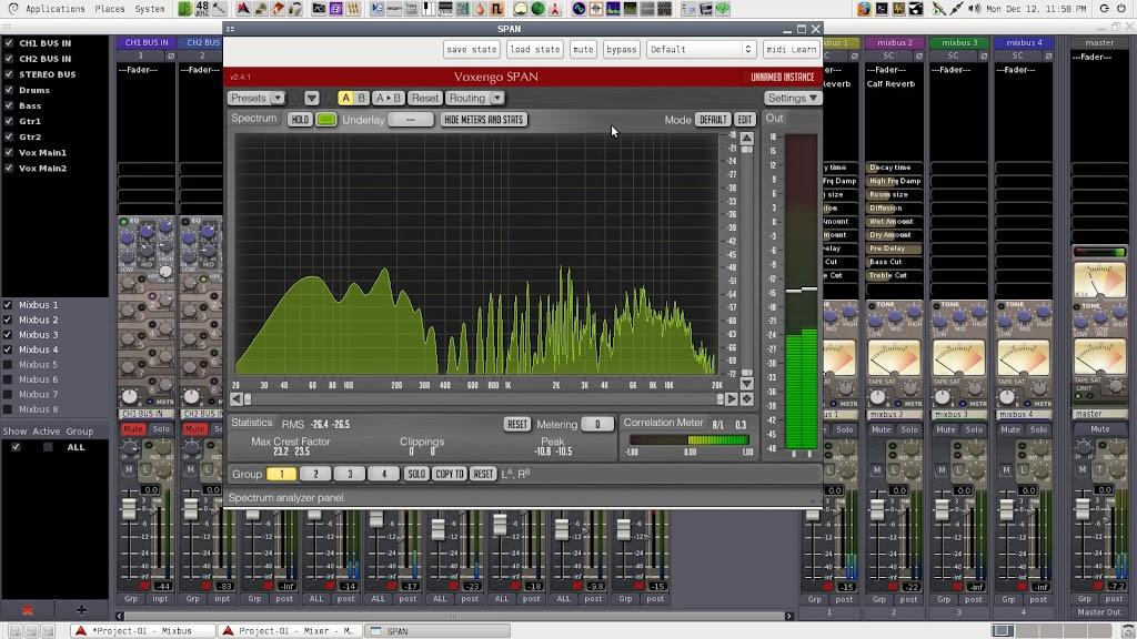 Spectrum Analyser plugin for linux? - Linux - Ardour