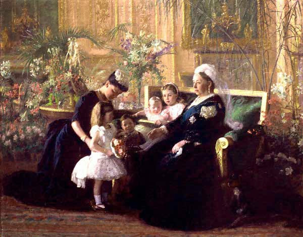Laurits Tuxen - Queen Victoria congratulation