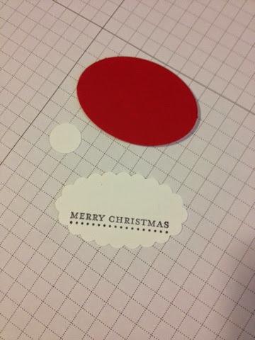 Gift Tags - Santa Hat - Punch Art | Midnight Crafting