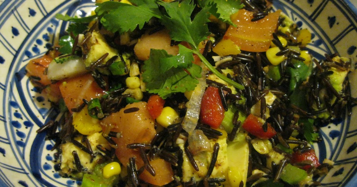 Fit Fun Vegan High Raw Mexican Black Rice Pilaf