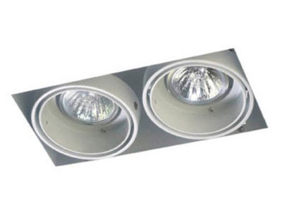 The Multidir Trimless LX623 - square low voltage twin downlight MR16 2 x 50W, architectural downlight
