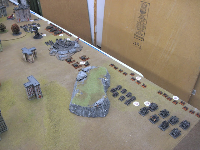 The Chaos line's left flank.