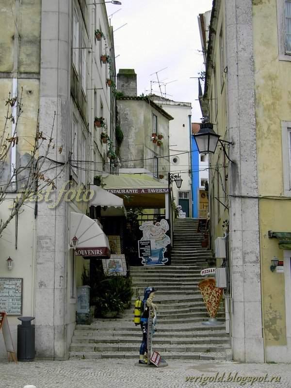 Старые улицы в Синтре фото