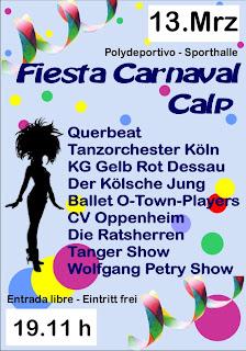CCC+ +13.03.2011 CCC   Carnaval Club Calpe celebra del 12.  13.de Marzo su Fiesta de Carnaval y Festival de Música y Danza