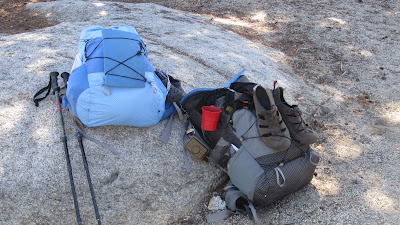 Our packs resting at 10,000+ feet.