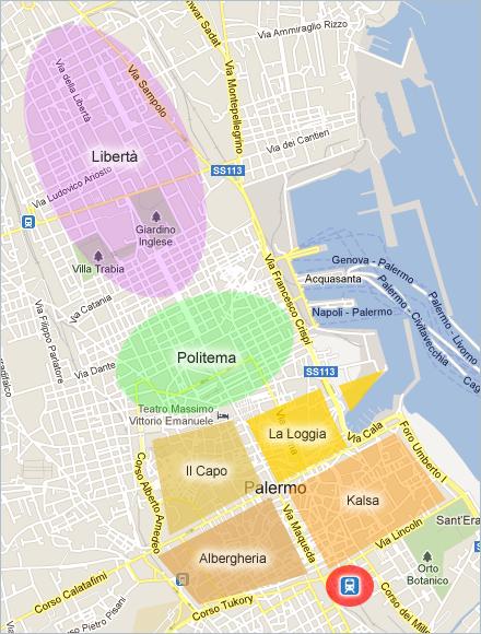 Die interessantesten Stadtteile der Innenstadt von Palermo