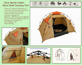 Genji Sports - Instant C&ing Tent Tent Dimensions 220cm(L)x150cm(W)x110cm(H) Retail Price $119. Cheaper on Amazon & Camping Kayaking and Outdoor Gear: COMPLETE TENT BUYERS GUIDE