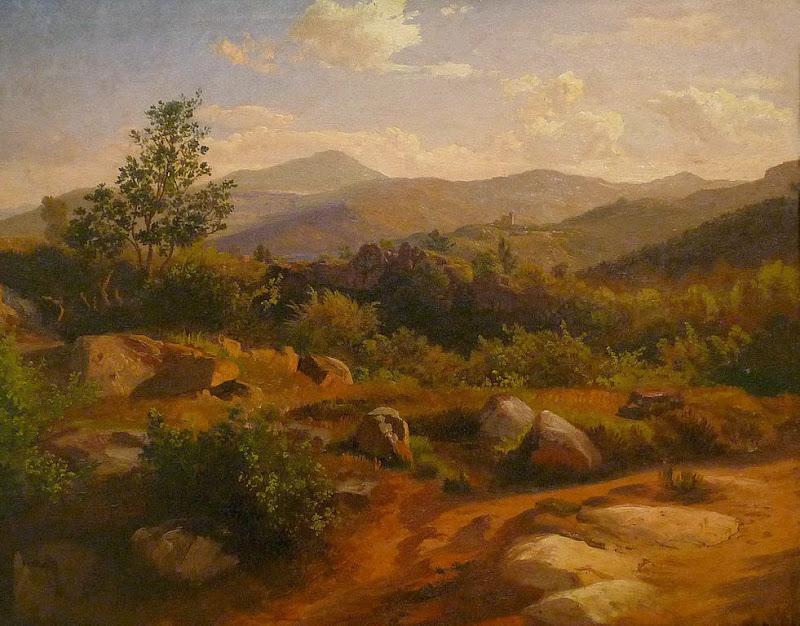 Johann Wilhelm Schirmer - Partie des Vosges avec le Spesbourg, 1862,