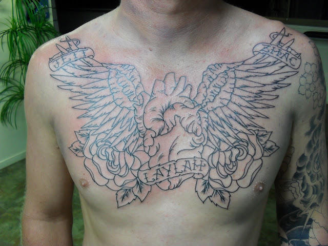 chest tattoo design for men