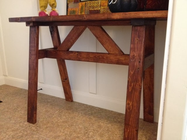 Wood Entry Table cheap wood entry or sofa table using 2x4's | a vision to remember