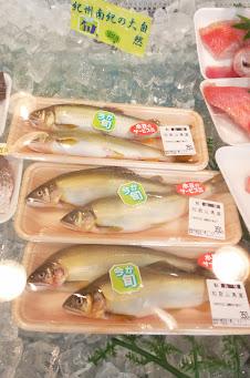 魚芳の豊富な鮮魚 鮎