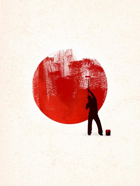 Help Japan poster by Rob Dobi