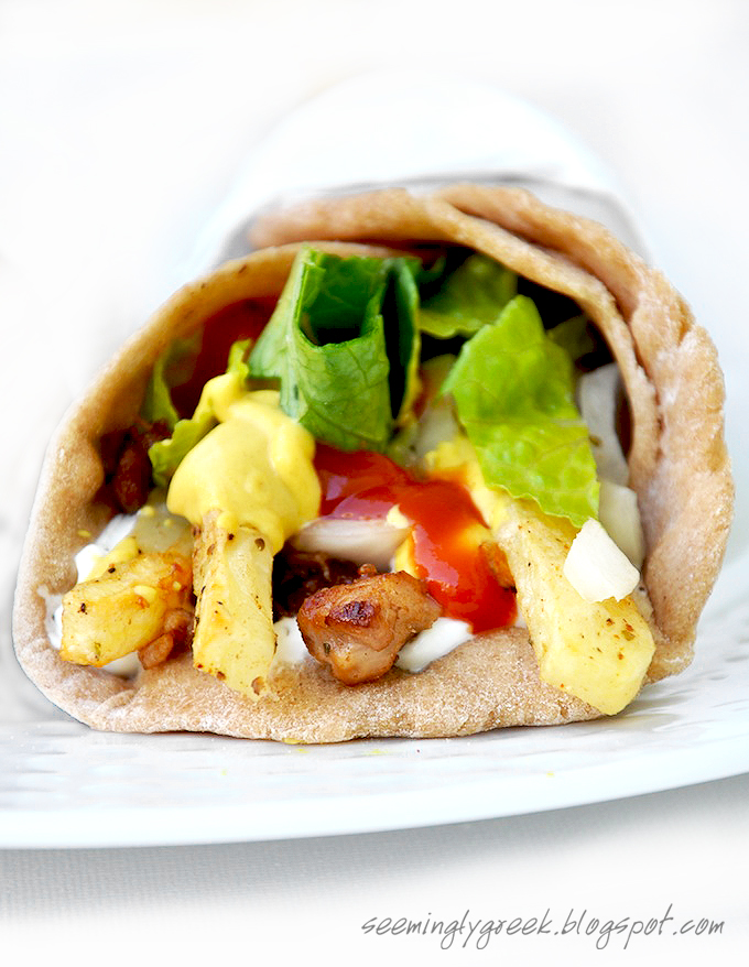 want to share a much healthier homemade lamb gyro recipe