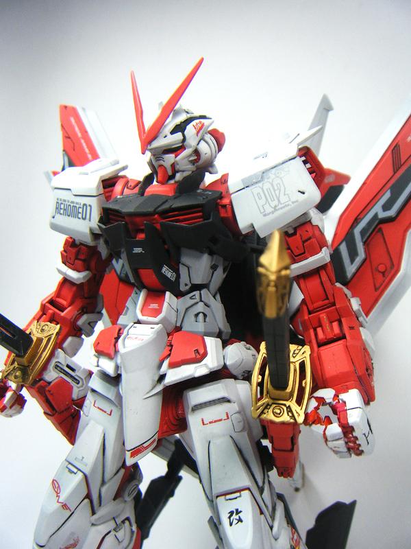 [MG] 1/100 Gundam Astray Red Frame Kai โดย nase