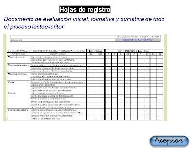 HOJA DE REGISTRO INDIVIDUALIZADA. PROCESO LECTOESCRITURA ...