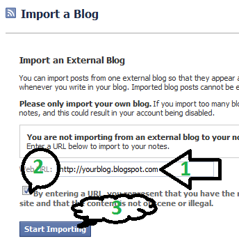 how to import blogspot to facebook notes