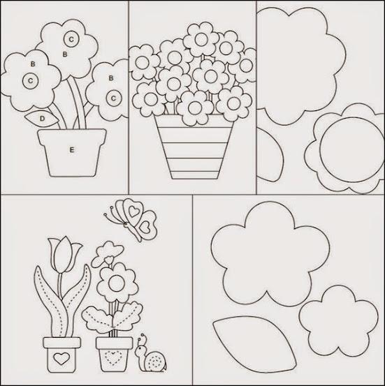 5 Moldes De Flores Gratuitos Para Voce Baixar Revista Artesanato