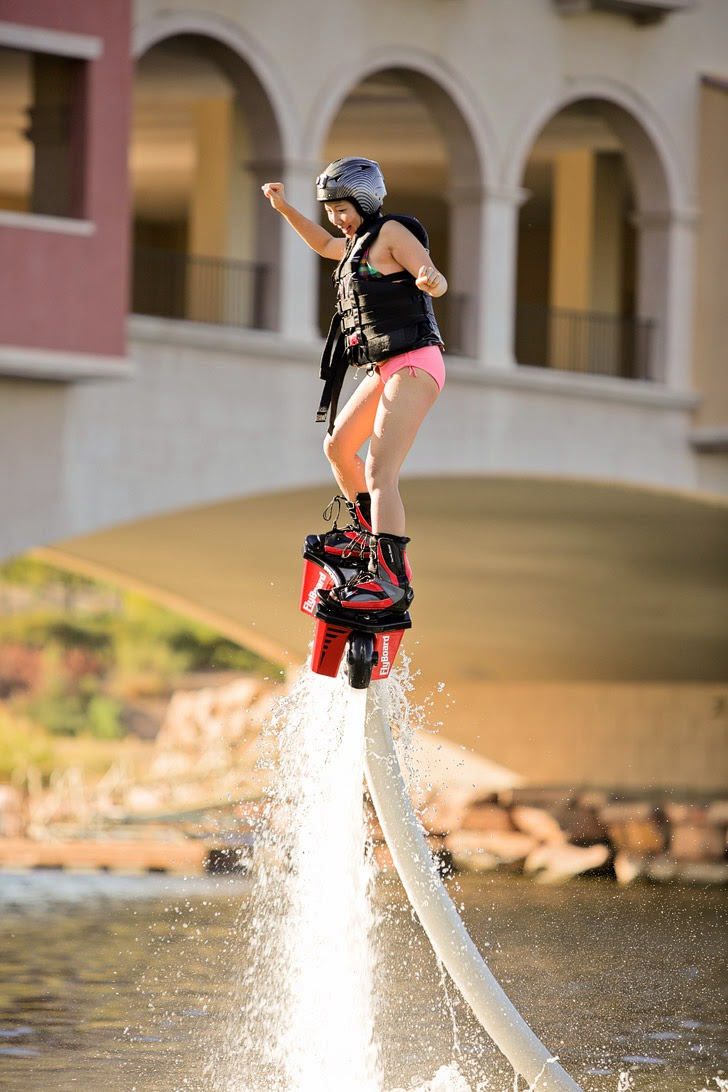 5 Las Vegas Outdoor Activities - Flyboard at Lake Las Vegas.