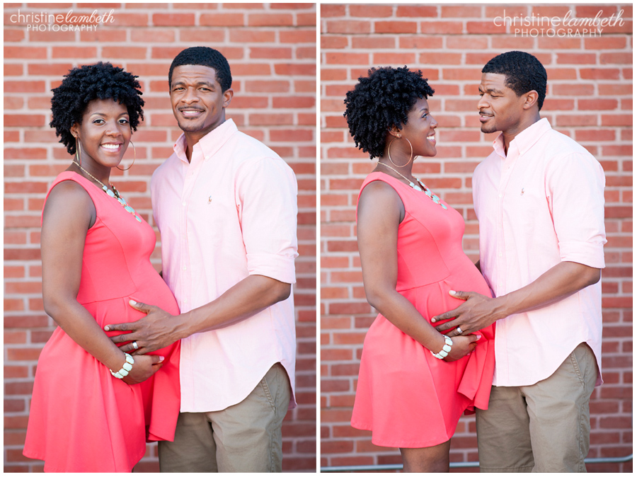 Keisha's maternity photos - excited couple