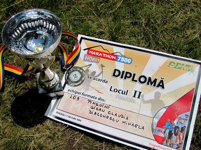 Marathon 7500, Bucegi 2011. Cupa, medalia, diploma de la Hobby Feminin