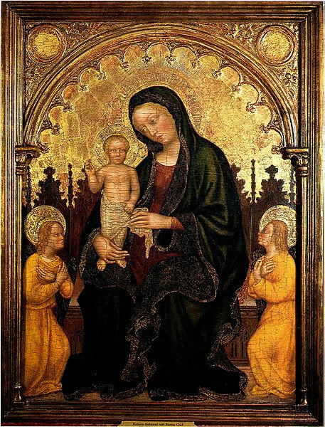 Gentile da Fabriano - Madonna with Child and Two Angels