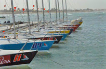 J/24 sailboats- docked at Kingdom Match Cup- Bahrain